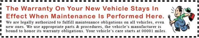 new car warranty service garage